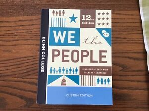 WE THE PEOPLE CUSTOM BLINN EDITION - Paperback By GINSBERG - NEW