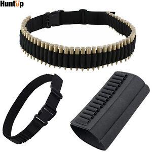 Rifle Bullet Cartridge Bandolier Ammo Belt Shotgun Buttstock Shell Holder Black