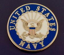 "United States Navy Logo Lapel Pin 1"" round Usn Us Usa"