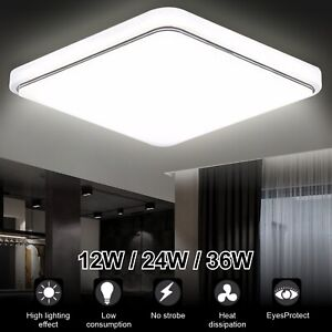 LED Ceiling Lights Square Panel Downlight Living Room Bathroom Kitchen Wall Lamp