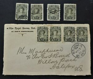 """NEWFOUNDLAND #78 COVER FRONT """"THE ROYAL STORES ST.JOHNS""""  CAN.SHIP $1.99 COM"""
