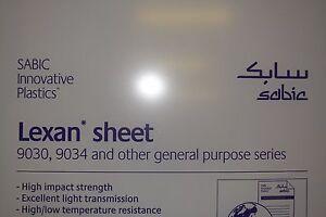 "Lexan Sheet 1/4"" Clear  60"" x 32"""