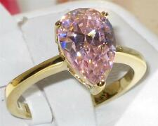Markenlose Solitäre Modeschmuck-Ringe aus Gelbgold
