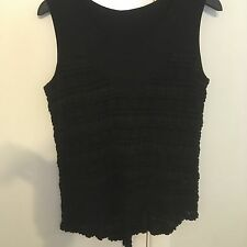 METALICUS black lace patterned loose fit top-one size