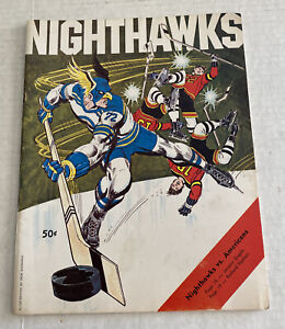 New Haven Nighthawks vs Rochester Americans AHL Hockey Program 1973-74