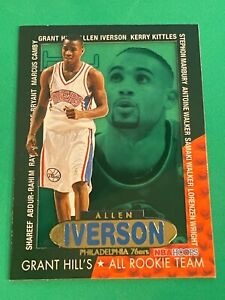 ALLEN IVERSON - ROOKIE INSERT Grant Hill's All Rookie Team - 1996-97 Hoops #6