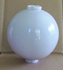 Antique 4 1/2 Inch White Milk Glass Lightning Rod Ball