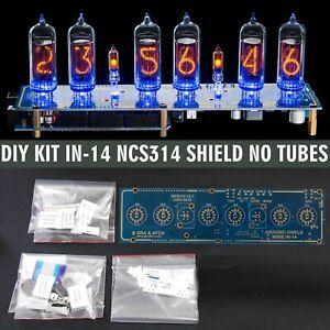 Nixie Tube Clock IN-14 Arduino Shield DIY KIT NCS314 [PCB+All Parts] [NO TUBES]