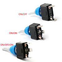 Waterproof Toggle Switch 12mm ON/OFF/ON SPDT SPST 2PIN 3PIN 10A/125V AC Car BK