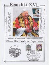 """Benedikt XVI. - Erinnerungsblatt """"Besuch in BRD / Abschlussgottesdienst"""" 2005 !!"""