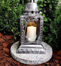 Grablaterne Grablampe Grableuchte Granit Grablicht GRAB Engel Kerze Grabschmuck