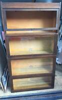 Globe Wernicke Barrister Sectional Bookcase Shelf Antique 4 stack Top 713 711