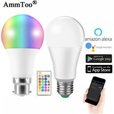 LED Wireless WIFI Smart Bulb Light Dimmable Lamp For Amazon Alexa Google Home