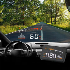 Car Head Up Display II HUD Projector Speedometer MPH KM/h Speed Warn JF