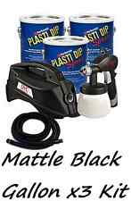 3 Gallons Matte Black Performix Plasti Dip + DYC DipSprayer Gun Bundle Kit