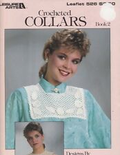 Leisure Arts 526 CROCHETED COLLARS Book 2 - 4 Different Designs 1987