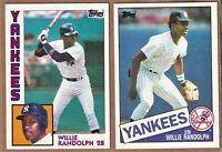 1984  &  1985  Topps  Willie Randolph