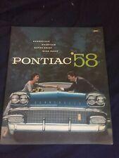 1958 Pontiac Stella Capo Chieftain Bonnneville Originale Brochure Catalogo