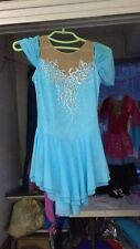 blue ice skating clothing competition women figure dresses for girls custom yike