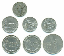 Italien-Regno, Lot v. 7 Münzen