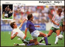 Football Maxicard 1986, Bulgaria V Italy, Handstamped #C26395