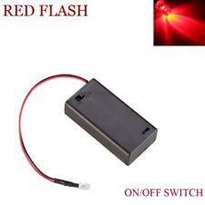 Red Flashing LED Dummy Security Car Alarm Motorbike Switch Battery Box 12V 20CM