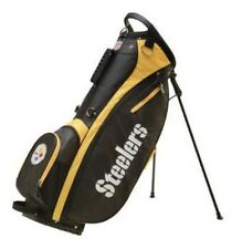 Wilson NFL Carry Golf Bag w/ Stand Pittsburgh Steelers, Black/Yellow WGB9950PT