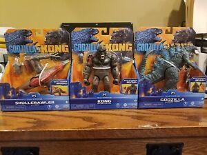 KING KONG VS GODZILLA MOVIE 3 PLAYSET  FIGURES KONG SKULL ISLAND FIGURE WALMART
