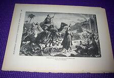 1899 Antique Print ENTRANCE OF OMAR THE GREAT INTO JERUSALEM O Fikentsher