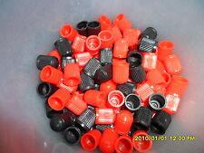 12 Negro & rojo de plástico válvula Tapas Auto, Moto, Atv, además, obtenga Paquete 1 Libre
