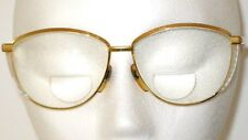 REVUE EYEGLASS FRAMES F 127 COL 469 GOLD METAL PEARLIZED INLAYS ITALY 1980's