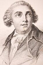 Portrait Musicien Pailsiello estampe 19° Compositeur Compositore italiano