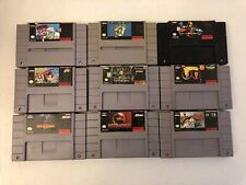 9 SNES Super Nintendo Authentic Original Tested Games Super Mario Paint Mortal