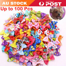 Mixed Pet Small Dog Hair Bows Rubber Bands Puppy Cat Grooming Accessory 100 pcs