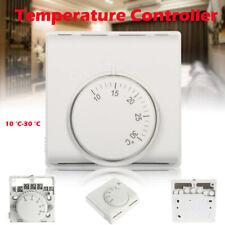 Analog Temperaturregler Raumthermostat Aufputz Klimaanlage mit Schalter 10~30°C