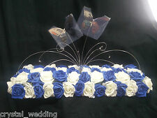Crystal Butterfly fountain wedding top table centerpiece long & low style