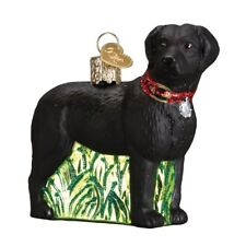Standing Black Lab Blown Glass Christmas Ornament by Old World Christmas