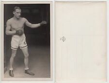 Muscolosa BOXER Sporty wrestler volte Half nude RPPC c.1925 GAY INT