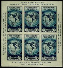 "United States Scott # 735 "" Byrds Antarctic Expedition"" Souvenir Sheet (6) NH"