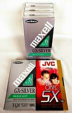 Sealed Maxell GX-Silver JVC SX 6 Hour VHS Tape Blank T-120 High Quality Pack 6