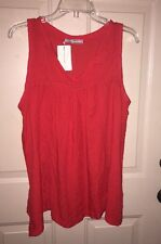 NWT~ Women's~ Behind The Seams~ Red Tank Top~Size L