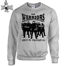 THE WARRIORS - RIOT IN PROGRESS (Sweatshirt) S-3XL Skinhead Oi! Cock Sparrer