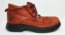 Timberland Hiking Walking Boots Men's 11 M Rust Orange Leather LaceUp Tread Sole