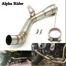 Motorcycle 51mm Exhaust Pipe Middle Slip On Muffler Mid Link For Kawasaki Z900