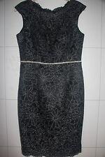 Edles, schwarz /silber (Lurex) Kleid *** JS COLLECTIONS ***  Glitzerkleid Gr. 38