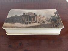 Lovely Old Trinket Box With Street Scene