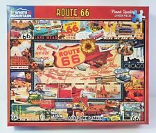 White Mountain 1000 piece Jigsaw Puzzle - Route 66 USA - America - Map