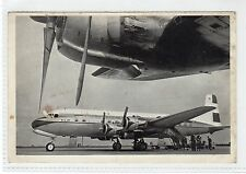 DOUGLAS DC-6B: Official KLM aviation postcard (C24623)