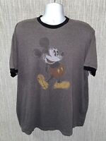 Disney Parks Mens Gray Mickey Mouse Short Sleeve T-Shirt Size 2XL