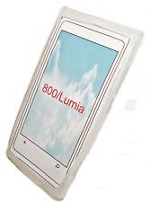 Silikon TPU Handy Cover Case in Foggy für Nokia Lumia 800 + Displayschutzfolie